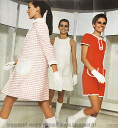 courreges | Andre Courreges dress - 1967 60s 1960 red white check