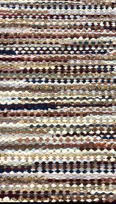 True North Textiles - Design Studio — Custom Rag Rugs in Cream and Wine Homemade Rugs, Home Decor Colors, Rug Texture, Cow Hide Rug, Carpet Runner, Woven Rug, Textile Design, Vintage Rugs, Rag Rugs