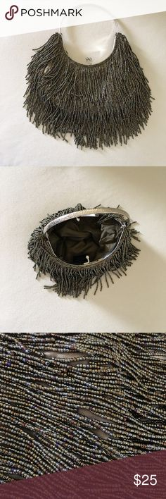 Arden B evening bag Gorgeous beaded evening bag! Silver tone fixed handle. Metallic  color beads! Goes with everything! Satin lining. New! Never used! Arden B Bags Mini Bags