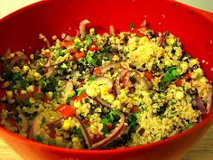 """""""lazy doesn't live here"""" quinoa salad. LOVE quinoa! so versatile and a power food for sure."""