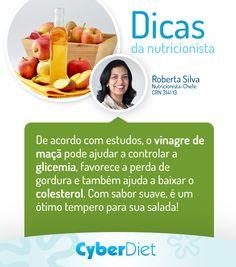 Experimente temperar sua salada com vinagre de maçã e ganhe benefícios para sua saúde! http://cyberdiet.terra.com.br/vinagre-12-1-12-47.html