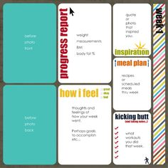 I like this page layout idea. Free printables also here.