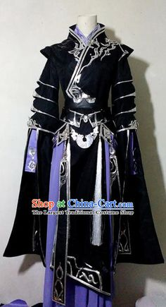Chinese Traditional Cosplay Prince Young Knight Black Costume Ancient Swordsman Hanfu Clothing for Men Cosplay Outfits, Anime Outfits, Cosplay Costumes, Cool Outfits, Male Kimono, Black Kimono, Anime Kimono, Ancient China Clothing, Space Outfit