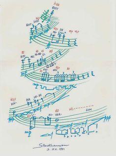 """""""El espiritu navideño de Karlheinz"""" / Stockhausen, """"Die zehn wichtigsten Wörter"""" 1991"""