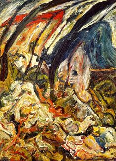 The Athenaeum - Landscape at Céret (Chaim Soutine - ) Abstract Expressionism, Abstract Art, Chaim Soutine, Organic Art, Classic Paintings, Art Moderne, Artist Life, Russian Art, Figure Painting