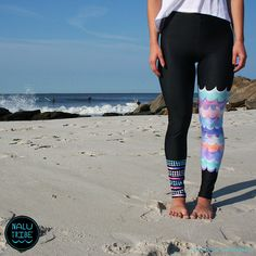 MIA WAVE Pastel Legging for Surf SUP Yoga Running by NaluTribe