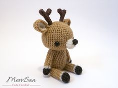 Make this adorable amigurumi reindeer with Lion Brand Vanna's Choice! Get the crochet pattern on Ravelry.