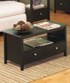 """Espresso Furniture Collection - Coffee Table by clickmehome. $64.95. Coffee Table, 31-1/2"""" x 17"""" x 15-1/2"""""""