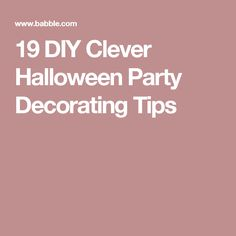 373e9bc5569c 19 DIY Clever Halloween Party Decorating Tips Teen Halloween Party