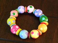 One of my hand-painted bracelets on Etsy. So cute!