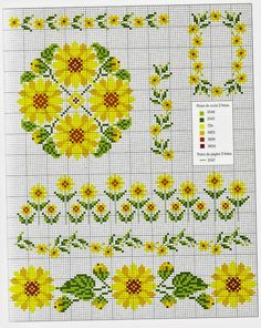 Tanti schemi gratuiti a punto croce dedicati al GIRASOLE, il bellissimo fiore, simbolo dell'estate che segue il sole durante tutto il giorno.