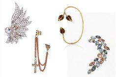 Ear cuffs: El accesorio más hot de la temporada En forma de ala de Asos, encadenado de Topshop, en oro de Pamela Love y con pedrería de Bershka. http://www.glamour.mx/moda/shopping/articulos/los-ear-cuffs-son-el-accesorio-clave-de-temporada/1403