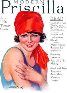 Modern Priscilla Magazine July 1926 Cover by Arthur L. Vintage Advertisements, Vintage Ads, Vintage Images, Vintage Prints, Vintage Posters, Vintage Modern, Vintage Ephemera, Old Magazines, Vintage Magazines