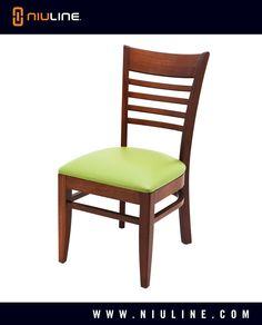 ELMA - Wood Chair, Mahogany Finish