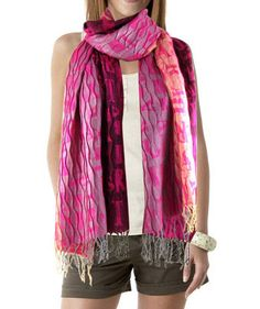 Ladies Fashion letter print crinkle scarf