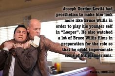 Rian Johnson had been collecting ideas for Looper since 2002. #movie #fact #movietrends