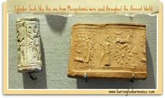 Cylinder Seals like this one from Mesopotamia were discussed for our ancient writing lesson. They also inspired the children to make their own. | Harrington Harmonies