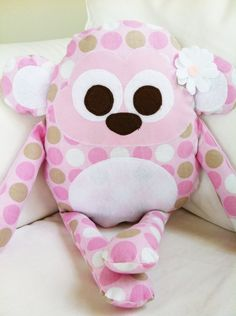 Toy Sewing Pattern Monkey Pillow PDF by GandGPatterns on Etsy, $8.00