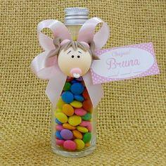 Lembrancinha Maternidade e Chá de Bebê Garrafinha com Bebê e Confetes $4.50