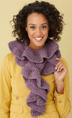 Flirty ruffle scarf great quick gift easy to customize homespun alice brans posted free crochet pattern glitter ruffle scarf to their crochet ideas and tips postboard via the juxtapost bookmarklet dt1010fo