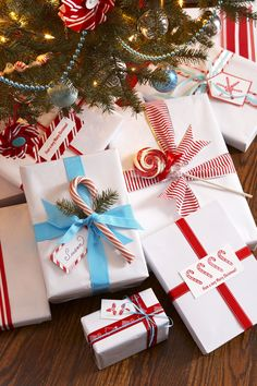Peppermint Treats - Christmas gift-wrapping ideas