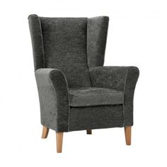 Perfect Cranborne High Back Armchair With Wings In Pewter Soft Feel