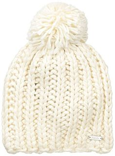 856d4d8f Bench Womens Heedful Rib Knit Hat with Pom Pristine 1 Size -- You can get  more details by clicking on the image. (Note:Amazon affiliate link)