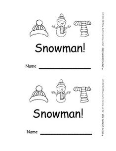 Emergent Reader: Here is a (Snowman) 8 pages $