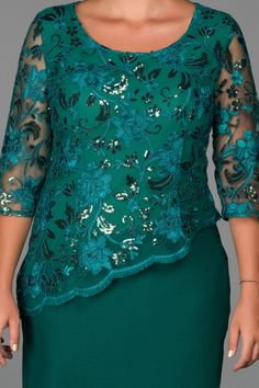 Emerald Green Decollete Plus Size Evening Dress - Outfits African Print Dresses, African Fashion Dresses, African Dress, Satin Dresses, Lace Dress, Evening Dresses Plus Size, Mothers Dresses, Indian Designer Wear, Classy Dress