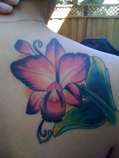 Cattleya Orchid cover up by Josh Hartley Yelp Orchid Flower Tattoos, Orchid Flowers, Cattleya Orchid, Black Tattoos, Watercolor Tattoo, Orchids, Tatting, Piercings, Ink
