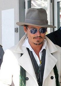 Image detail for -Famous and Fab in Fedoras J Depp in fedora hat – Mens Hats Fedora