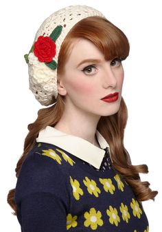 Make a Run Floret Hat | Mod Retro Vintage Hats | ModCloth.com