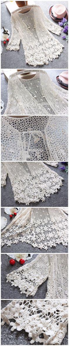 Qbale Estilo Japonês Mori Menina Rendas Cardigan Mulheres 2017 Moda Floral Oca Out Lace Crochet Tops Mulheres Verão Cardigan Renda em Cardigans de Das mulheres Roupas & Acessórios no AliExpress.com | Alibaba Group