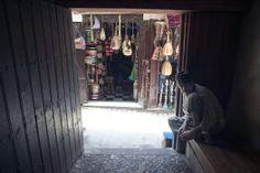 Music shop seen through door of Henna Souk