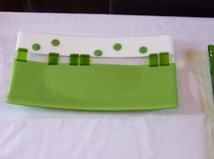 Fused glass plate 14 x 7 I call this Renewal full by jensstudio, $125.00