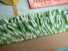 Use Bakers Twine to make Grass