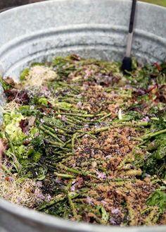 Recipe: Baby Greens Salad with Asparagus, Sweet Amaranth & Green Garlic Dressing