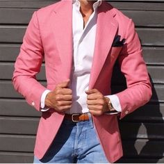 """Hello, Today we bring to you one of the most interesting topics in the fashion community which is """"Best Casual Suits Outfit for Men"""". Traje Casual, Casual Suit, Casual Blazer, Casual Outfits, Men Casual, Casual Attire, Sharp Dressed Man, Well Dressed Men, Mens Fashion Suits"""