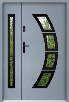 porte entree double | porte double vantaux | porte d entrée double | porte d entrée sécurisée Double Front Entry Doors, Modern Front Door, Solid Doors, Winchester, Glazed Doors, Glazed Glass, Prehung Doors, Mousse Polyuréthane, Skylight