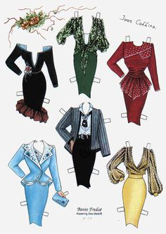 Bente Fredso paper doll of Joan Collins 4