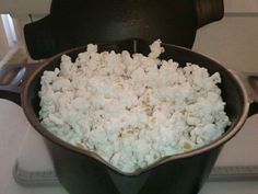 If you have a Pampered Chef micro cooker you can make microwave popcorn in minutes! Take 1/4 cup popcorn-cover loosely with lid and nuke for 1:50-2:10. Fresh crunchy and healthy!