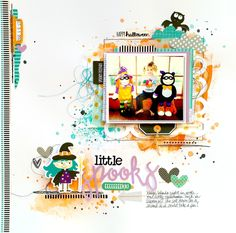 Bella Blvd Spooktacular Collection. Little Spooks layout by Missy Whidden.
