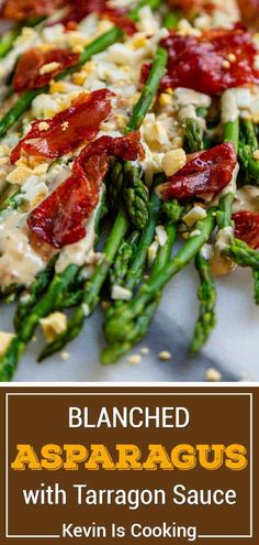 Blanched asparagus with tarragon sauce is the perfect side dish with steak, salmon, and poultry. Make this recipe to serve for the holidays!