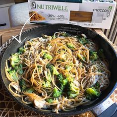 RECETA FITNESS: Espaguetis low carbs con brócoli y pollo desmechado