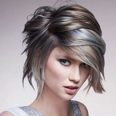 Love This! (but long, of course): Lightest pastel blonde, a level 7 ash blonde/brown, and pale pastel blue