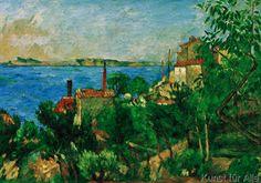 Paul Cézanne - La mer à l'Estaque