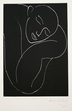 L'homme endormi. / The sleeping man. / By Henri Matisse,1936.