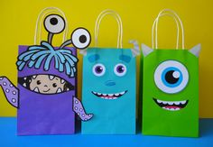 Instant Download Monsters Inc Favor Bags - Monsters Inc Party/ Goody/ Candy…