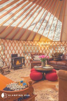 Yurt Living, Tiny Living, Tiny House Cabin, Tiny House Design, California Ranch, Southern California, Moroccan Tent, Luxury Yurt, Yurt Interior