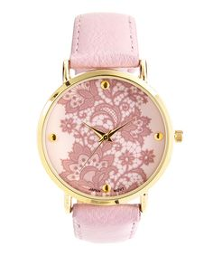 Look at this Lavender Lace Dial Watch on #zulily today!